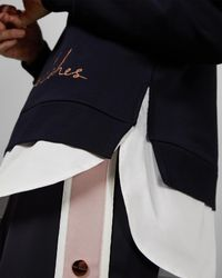 Ted Baker Blue Frill Detail Cotton Jumper