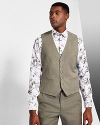 Ted Baker - Multicolor Debonair Slim Plain Wool Waistcoat for Men - Lyst
