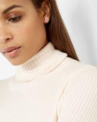 Ted Baker | Metallic Enamel Button Stud Earrings | Lyst