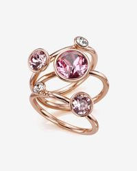 Ted Baker - Pink Jewel Cluster Ring - Lyst