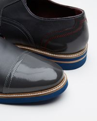 Ted Baker - Black Textured Leather Derby Shoes for Men - Lyst
