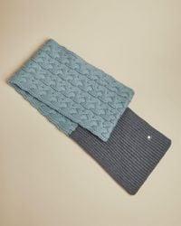Bufanda De Punto Bloques De Color Ted Baker de color Blue