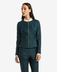 Ted Baker | Green Chintz Curved Wool Suit Jacket | Lyst