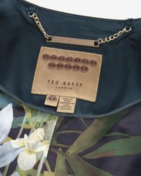 Ted Baker - Green Chintz Curved Wool Suit Jacket - Lyst
