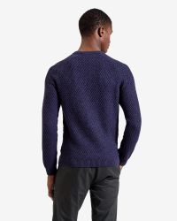 Ted Baker - Purple Textured Raglan Sleeved Jumper for Men - Lyst