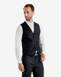 Ted Baker Blue Nylway Herringbone Waistcoat for men