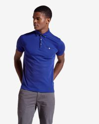 Ted Baker | Blue Jersey Polo Shirt for Men | Lyst