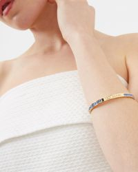 Ted Baker - Blue Crystal Bangle - Lyst