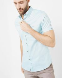 Ted Baker | Green Cotton Oxford Shirt for Men | Lyst