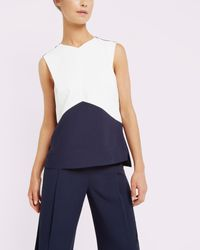 Ted Baker | Blue Geometric Colour Block Top | Lyst
