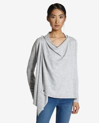 Ted Baker Gray Magnetic Fastening Wrap Cardigan