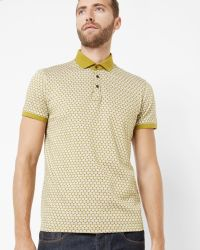 Ted Baker | Green Spot Print Polo Shirt for Men | Lyst