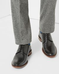 Ted Baker | Black Classic Leather Derby Shoes for Men | Lyst