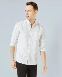 Ted Baker | White Geo Print Shirt for Men | Lyst
