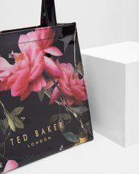 Ted Baker - Black Citrus Bloom Small Shopper Bag - Lyst