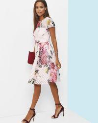 Ted Baker Pink Citrus Bloom Mesh Dress