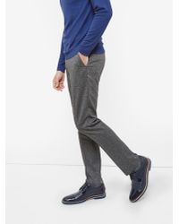Ted Baker | Gray Illitro Textured Wool Trousers for Men | Lyst