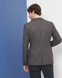 Ted Baker | Gray Veerity Diamond Jacquard Classic Fit Blazer for Men | Lyst