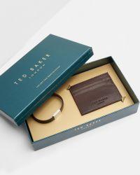 Ted Baker | Brown Card Holder And Bracelet Set for Men | Lyst