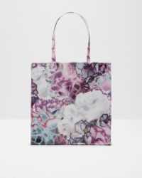 Ted Baker | Purple Illuminated Bloom Large Shopper Bag | Lyst