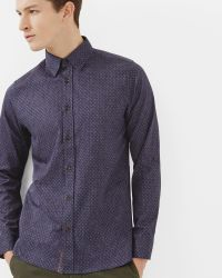 Ted Baker | Blue Geo Print Shirt for Men | Lyst