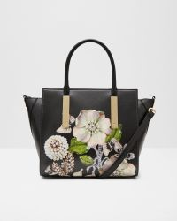 Ted Baker | Black Gem Gardens Leather Tote Bag | Lyst