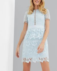 Ted Baker | Blue Layered Lace Dress | Lyst