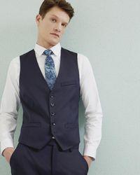 Ted Baker   Blue Debonair Wool Waistcoat for Men   Lyst