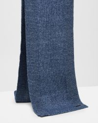 Ted Baker | Blue Ribbed Knit Scarf for Men | Lyst