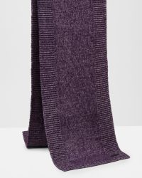 Ted Baker   Purple Ribbed Knit Scarf for Men   Lyst