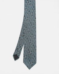 Ted Baker | Blue Camouflage Silk Tie for Men | Lyst