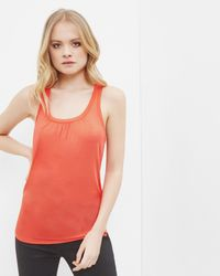 Ted Baker | Red Pleated Detail Cami Top | Lyst