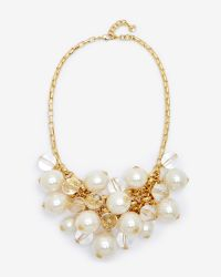 Ted Baker | Metallic Pearl Cluster Necklace | Lyst