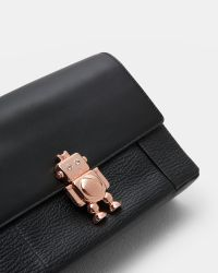 Ted Baker Black Robot Detail Leather Cross Body Bag