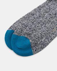 Ted Baker - Gray Textured Organic Cotton-blend Socks for Men - Lyst