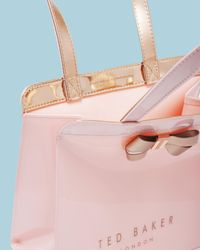 Ted Baker - Pink Bow Detail Small Icon Bag - Lyst