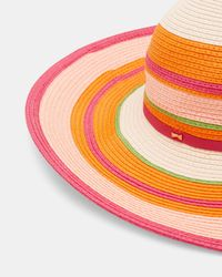 Ted Baker Orange Striped Sun Hat