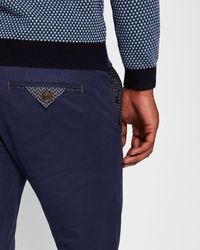 Ted Baker - Blue Slim Fit Chinos for Men - Lyst