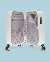 Bow detail cabin suitcase Ted Baker de color White