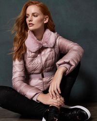 Ted Baker Pink Quilted Down Jacket