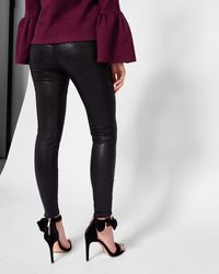 Ted Baker - Black Skinny Textured Jeans - Lyst