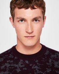 Ted Baker - Red Gelato Interest Jacquard Jumper for Men - Lyst