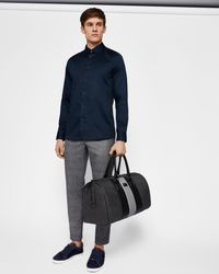 Ted Baker - Blue Stretch Satin Shirt for Men - Lyst