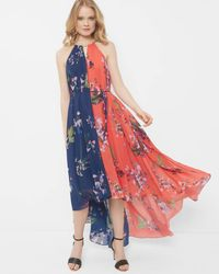 Ted Baker Blue Tropical Oasis Chain Detail Dress