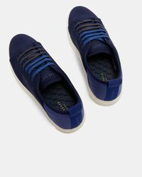 Ted Baker Blue Neoprene Derby Trainers for men