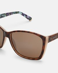 Ted Baker - Brown Oversized Printed Sunglasses - Lyst