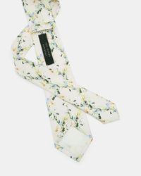 Ted Baker Multicolor Floral Print Silk Tie for men
