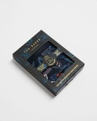 Ted Baker Blue Modal Printed Boxer Briefs for men