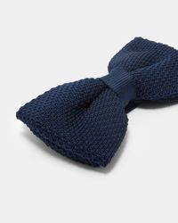 Ted Baker - Blue Knitted Bow Tie for Men - Lyst