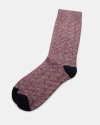 Ted Baker - Textured Organic Cotton-blend Socks for Men - Lyst